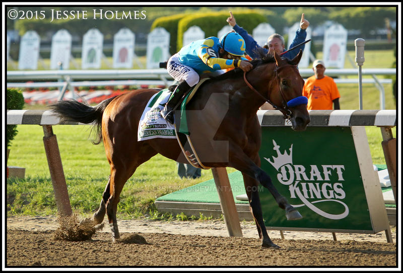 American Pharoah Wins the Belmont Stakes by Jessie-kad