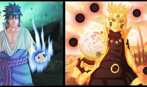 Naruto 674 - Naruto And Sasuke Sage chakra