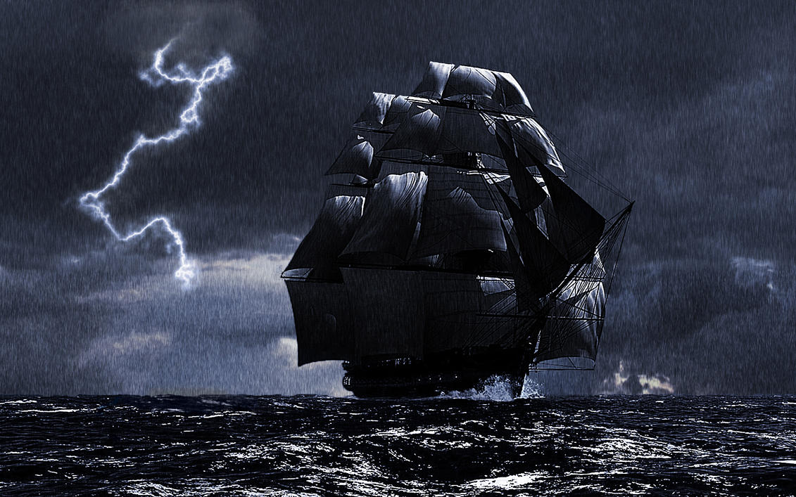 a ship in a storm by shockhit on deviantart