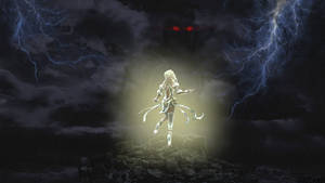 Smite- Hel's light facing her fathers darkness