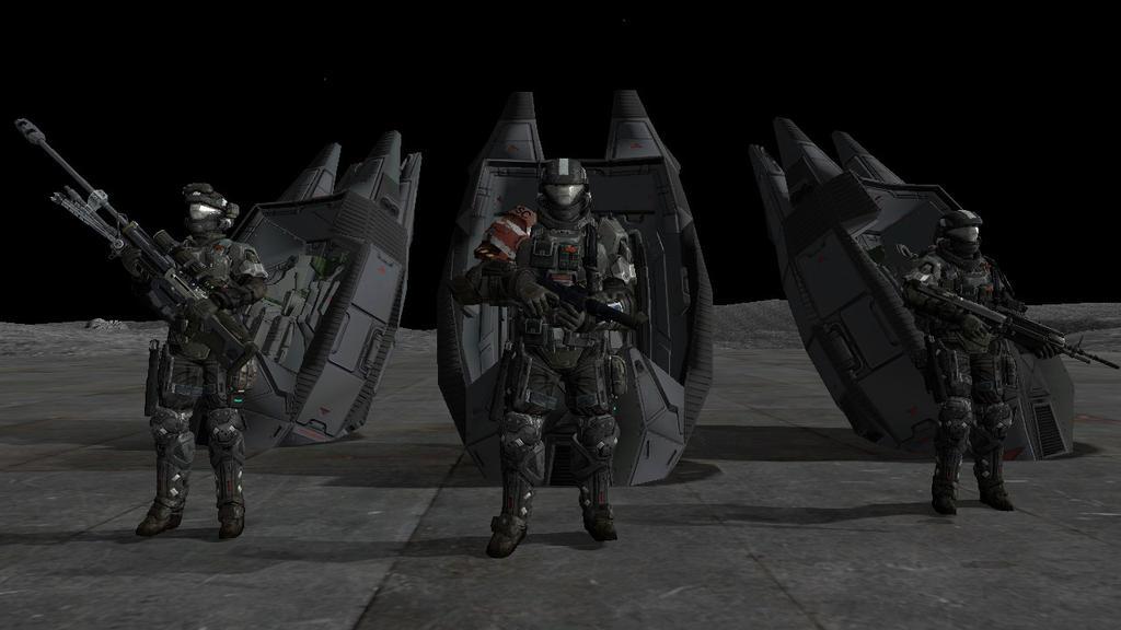 Oribtal Drop Shock Troopers Gamma 1-1 squadron by darksavage22