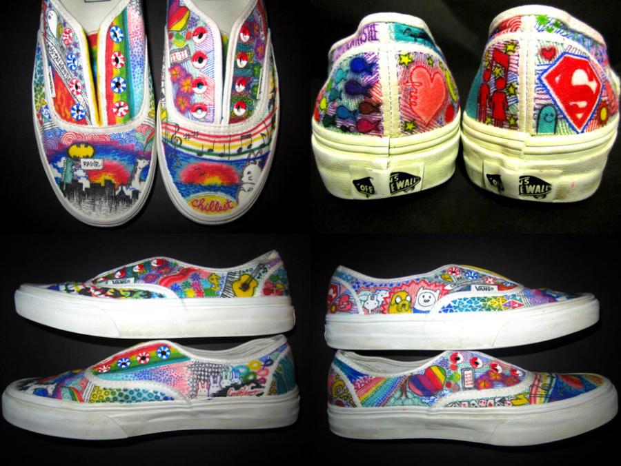 Rainbow Vans: Rainbow Vans By Cwhistle On DeviantArt