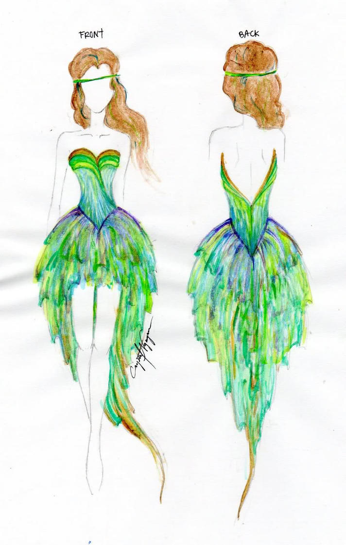 Peacock Dress by cwhistle on DeviantArt
