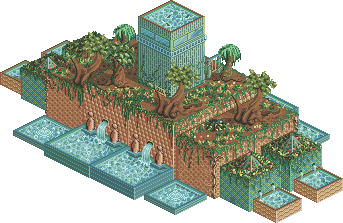 The hanging gardens of Babylon by lunar-eclipse