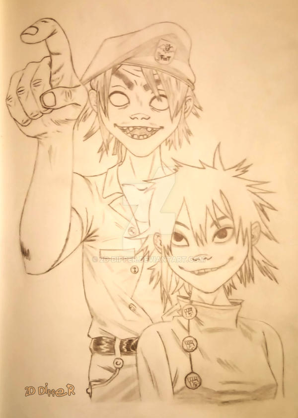 2D and Noodle Phase4 [Sketch] by 2D-Dipper