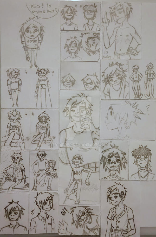 2D Sketches [old and new] by 2D-Dipper
