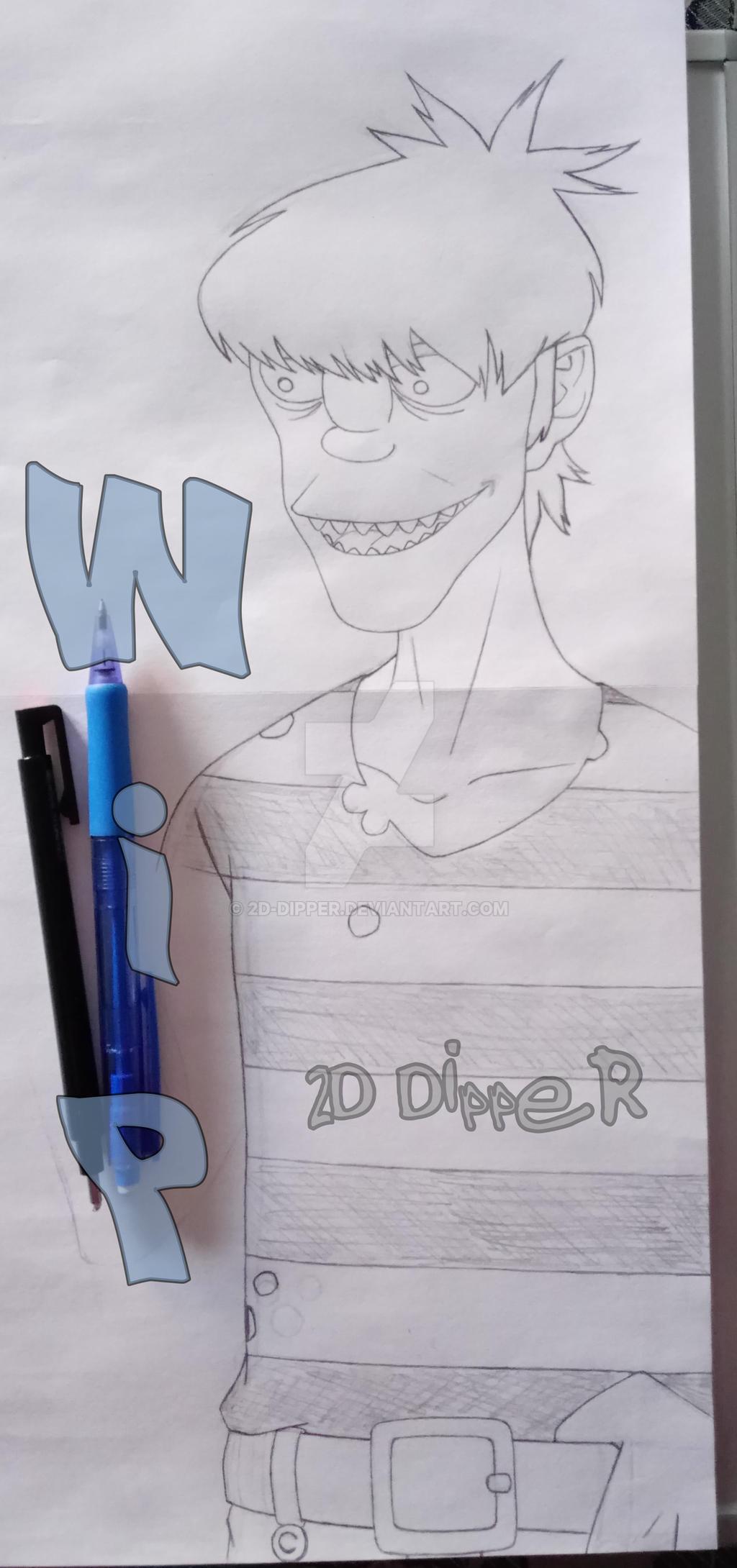 Murdoc [WIP] by 2D-Dipper