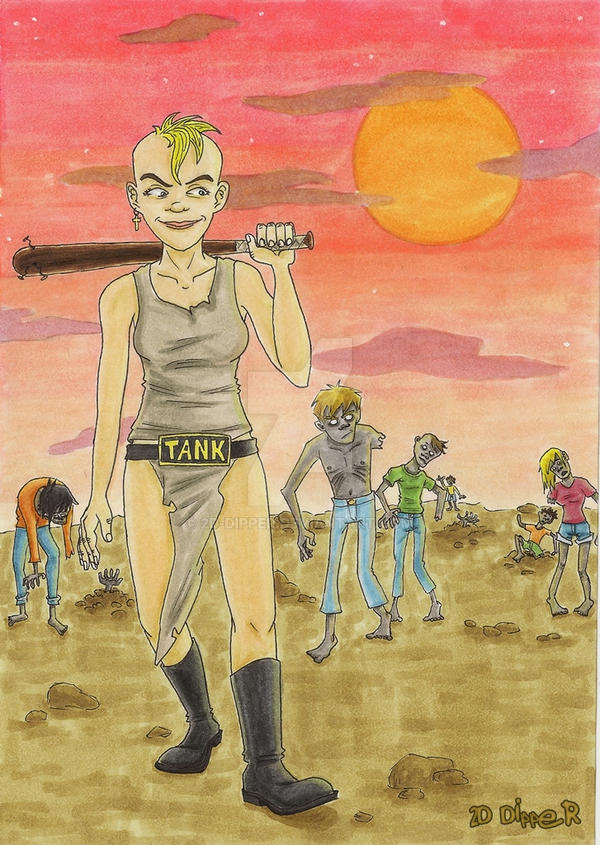 Zombie-Apocalypse [Tank Girl] by 2D-Dipper