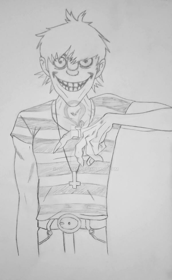 Murdoc [Sketch] by 2D-Dipper