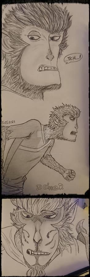 more Sun Wukong / Dasheng sketches