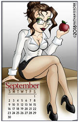 Calendar Pin Up: September by nrrork