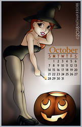 Calendar Pin Up: October by nrrork