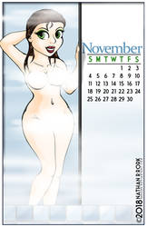 Calendar Pin Up: November by nrrork