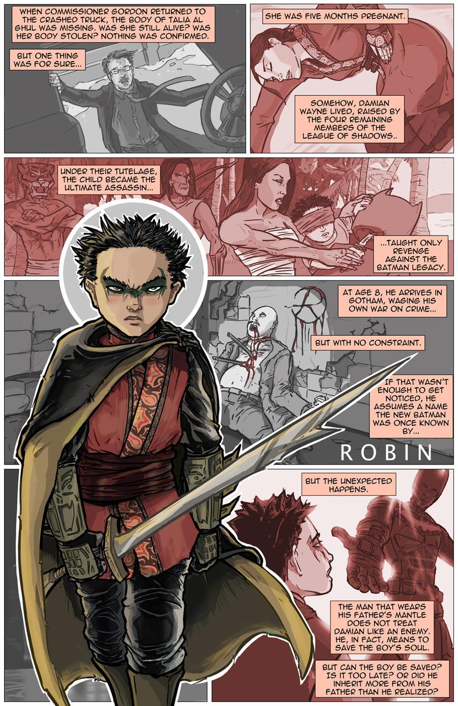 TDK Trilogy Epilogue: Robin (Damian Wayne) by kinjamin