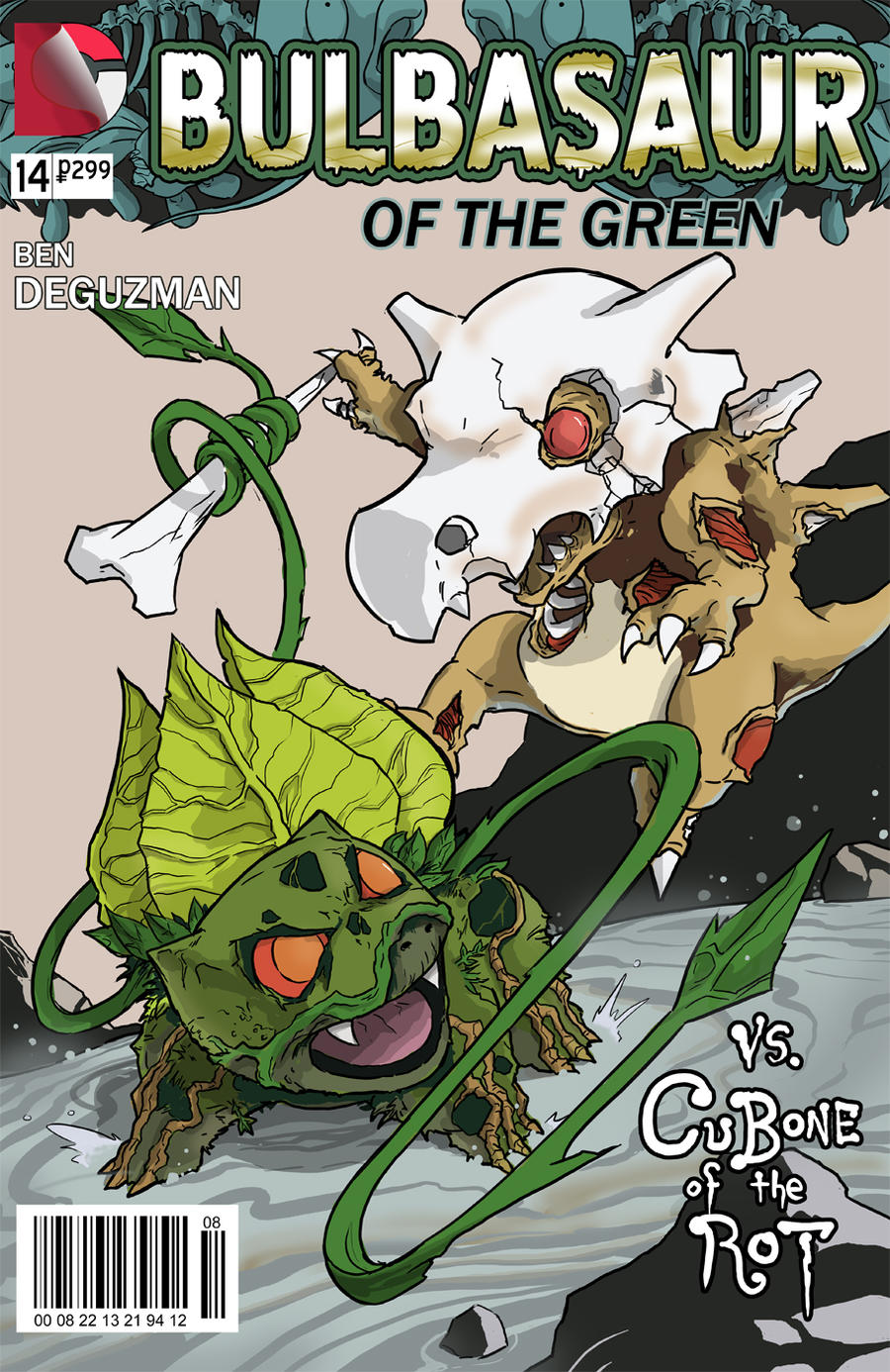 Bulbasaur / Swamp Thing mashup by kinjamin