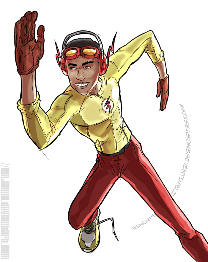 Donald Glover as Kid Flash / Wally West by kinjamin