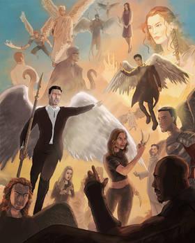 Lucifer v Dogma v Good omens V The Good Place