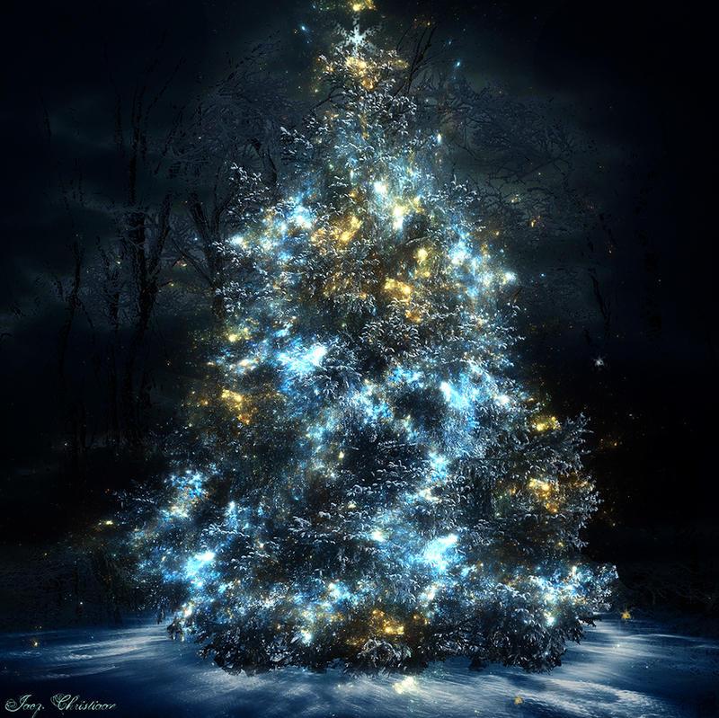 digital art christmas tree - photo #2