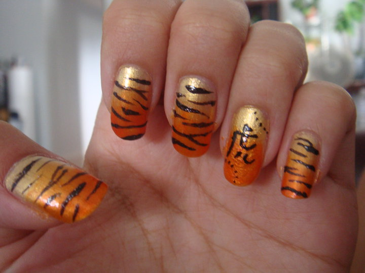 Tiger Nails By Bbycashflow On Deviantart