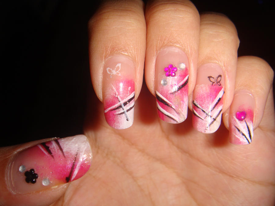 Pink nail art pt.1 by BbyCashfLow on DeviantArt