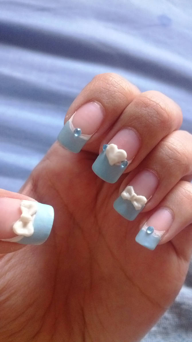 Blue Pastel Nails Baby Shower Nails By Bbycashflow On Deviantart