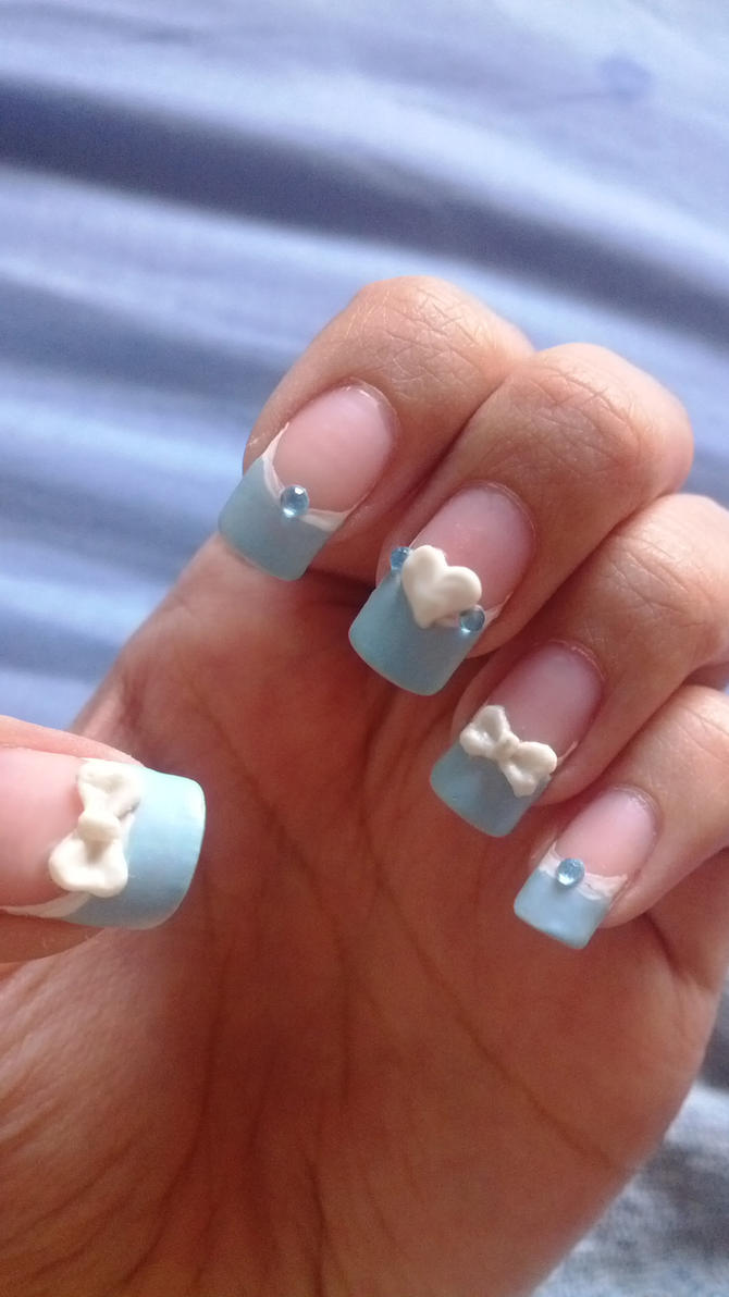 Wonderful Blue Pastel Nails/Baby Shower Nails By BbyCashfLow ...