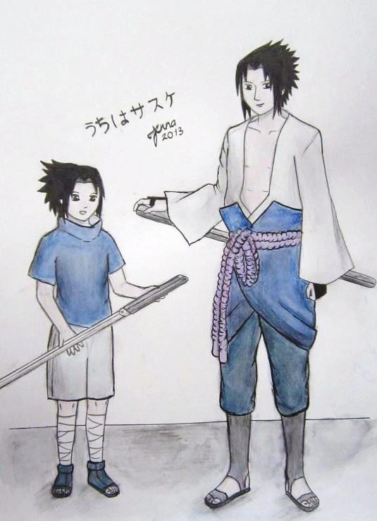Sasuke meets kid Sasuke x3 by piritajenna