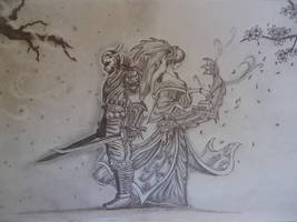 Shen and Sona by Kezji