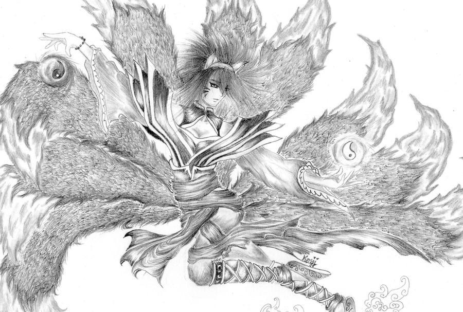 Ahri The Nine Tails by Kezji