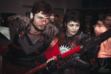 Hawke and Cassandra by BioWareBY