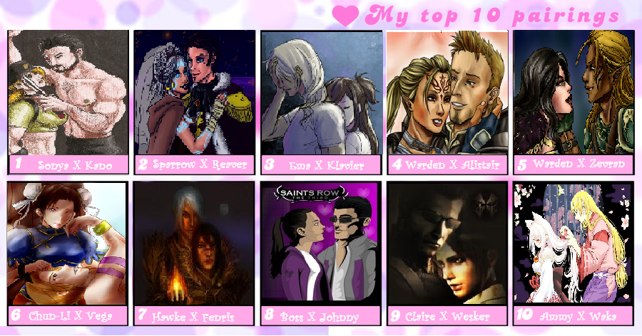 video game top 10 awesomenest couples meme by shadow force silver on deviantart. Black Bedroom Furniture Sets. Home Design Ideas