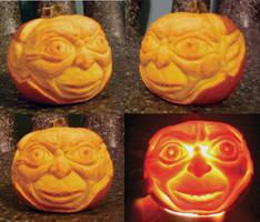 Smeagol Mini Pumpkin