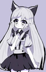 Sketch kemonomini nurse girl by Diana-AS
