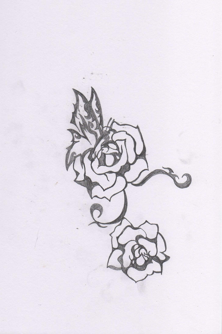 Unfinished Girls Tattoo Design by Vapel