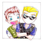 Chris and Wesker