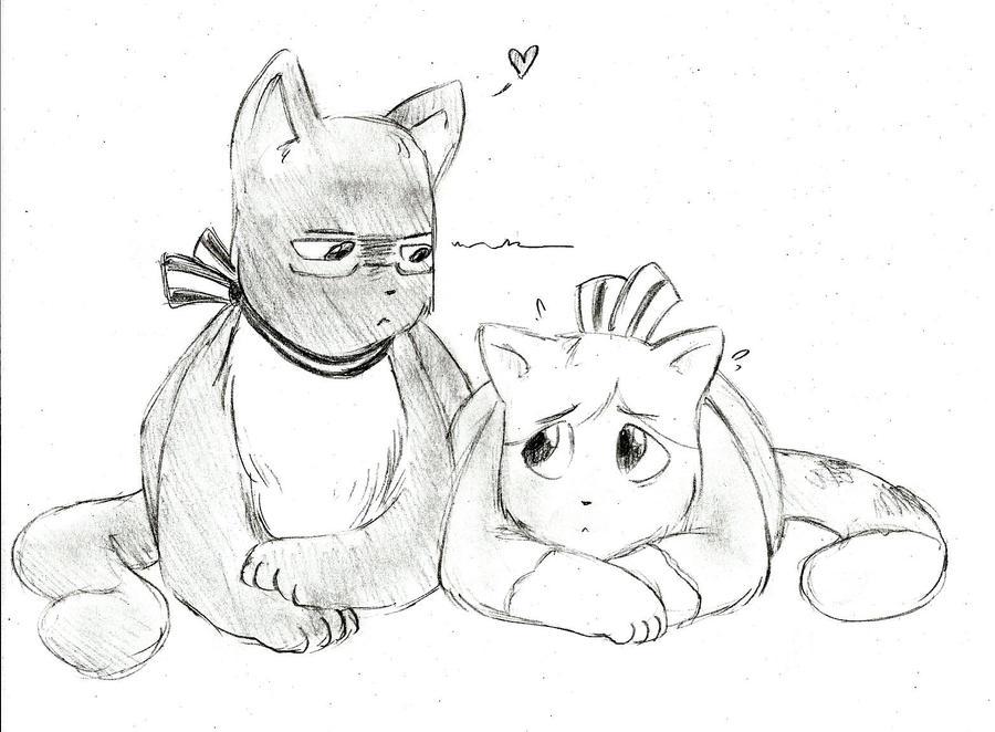 Sve!Cat and Fin!Cat by Chrissyissypoo19