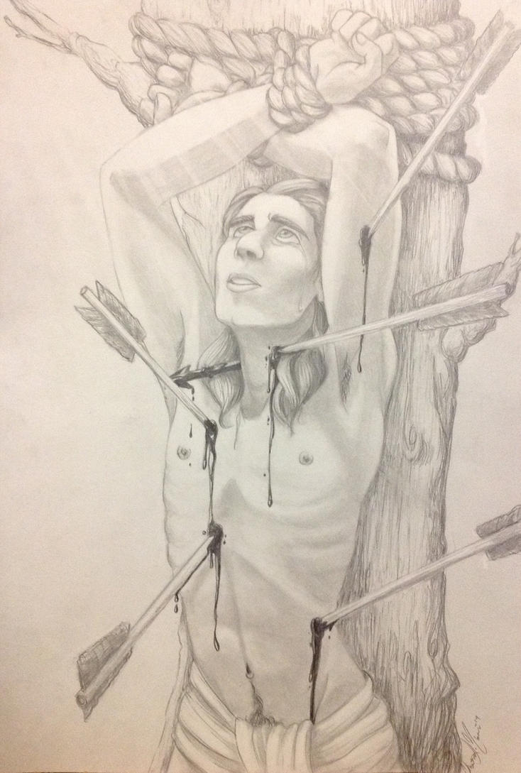 St. Sebastian (class assignment) by Chrissyissypoo19