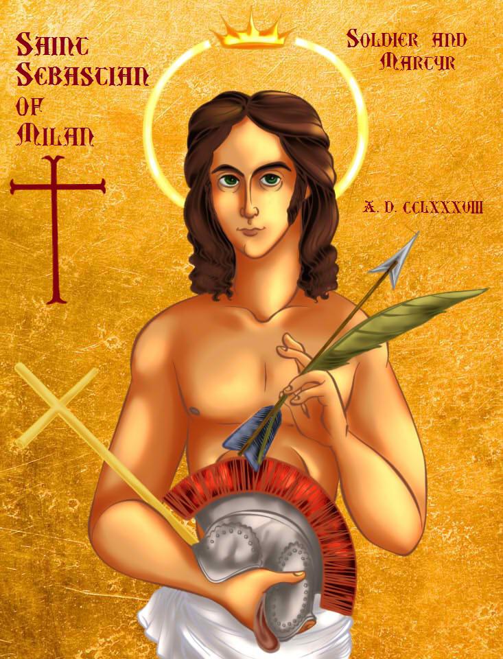 Saint Sebastian Iconography Painting (Finished) by Chrissyissypoo19