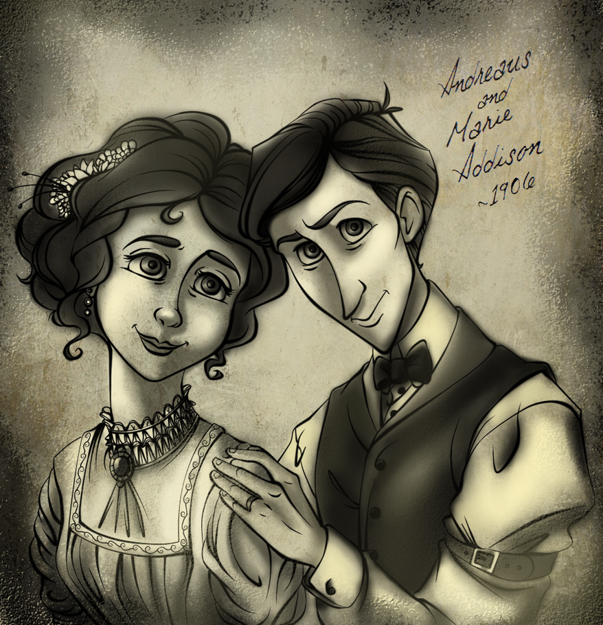 Andre and Marie 1906 Old Photo (Version 2) by Chrissyissypoo19