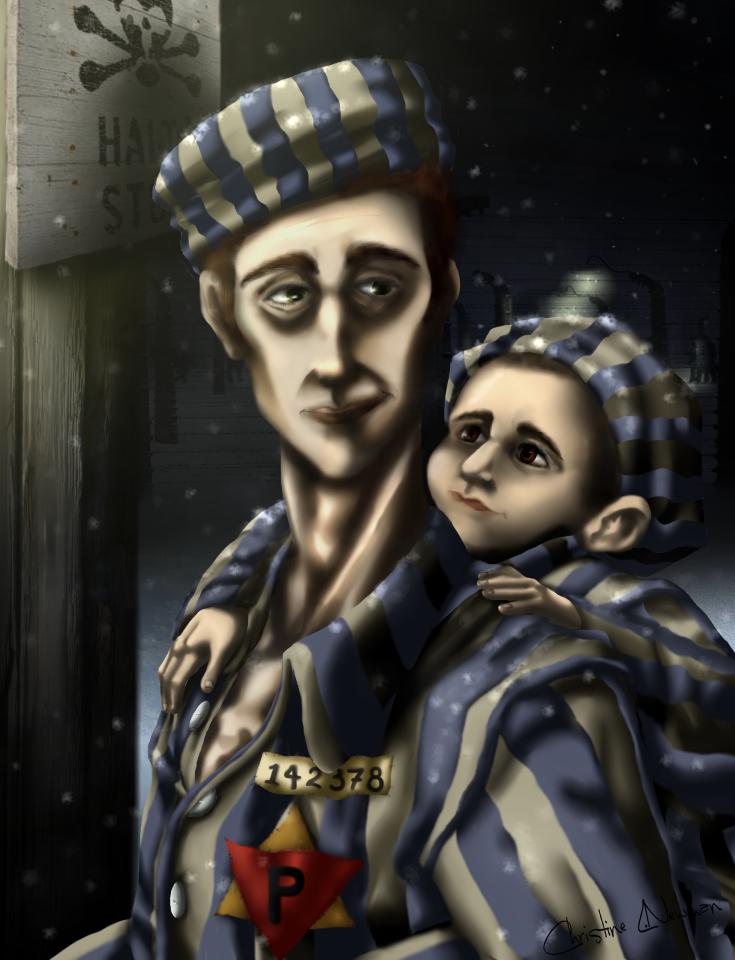 Amichai and Benjamin at Dachau (complete) by Chrissyissypoo19
