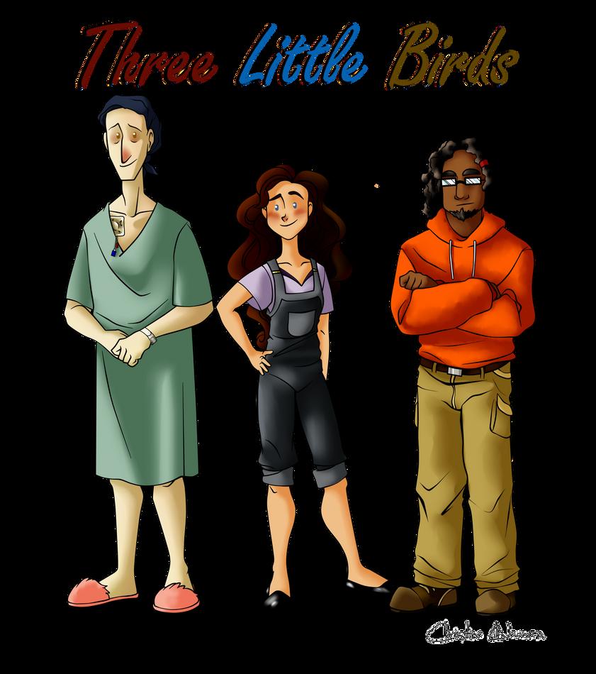 Three Little Birds Height Comparison by Chrissyissypoo19