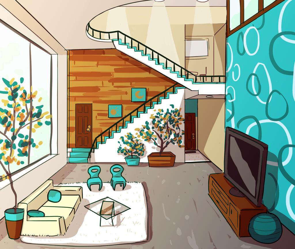 Living Room By NathanButlerArt On DeviantArt