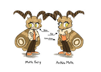 Fairy vs Anthro moth by NathanButlerArt