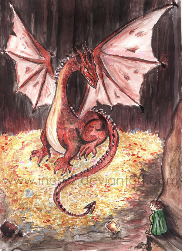 Smaug -coloured by Ines92