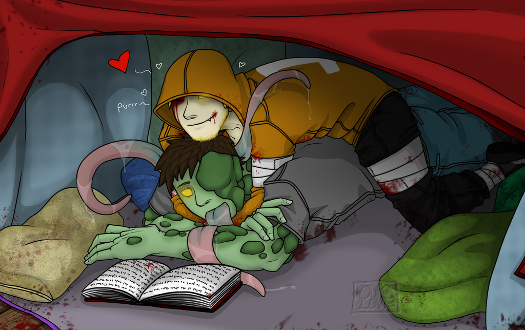 Comfy pillow fort by 13OukaMocha13 on DeviantArt