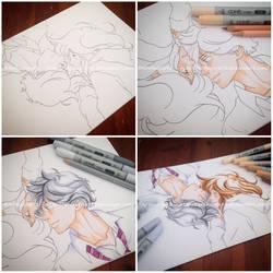 MAKING OF: FutabaKou - Ao Haru Ride by Ardeuccia92