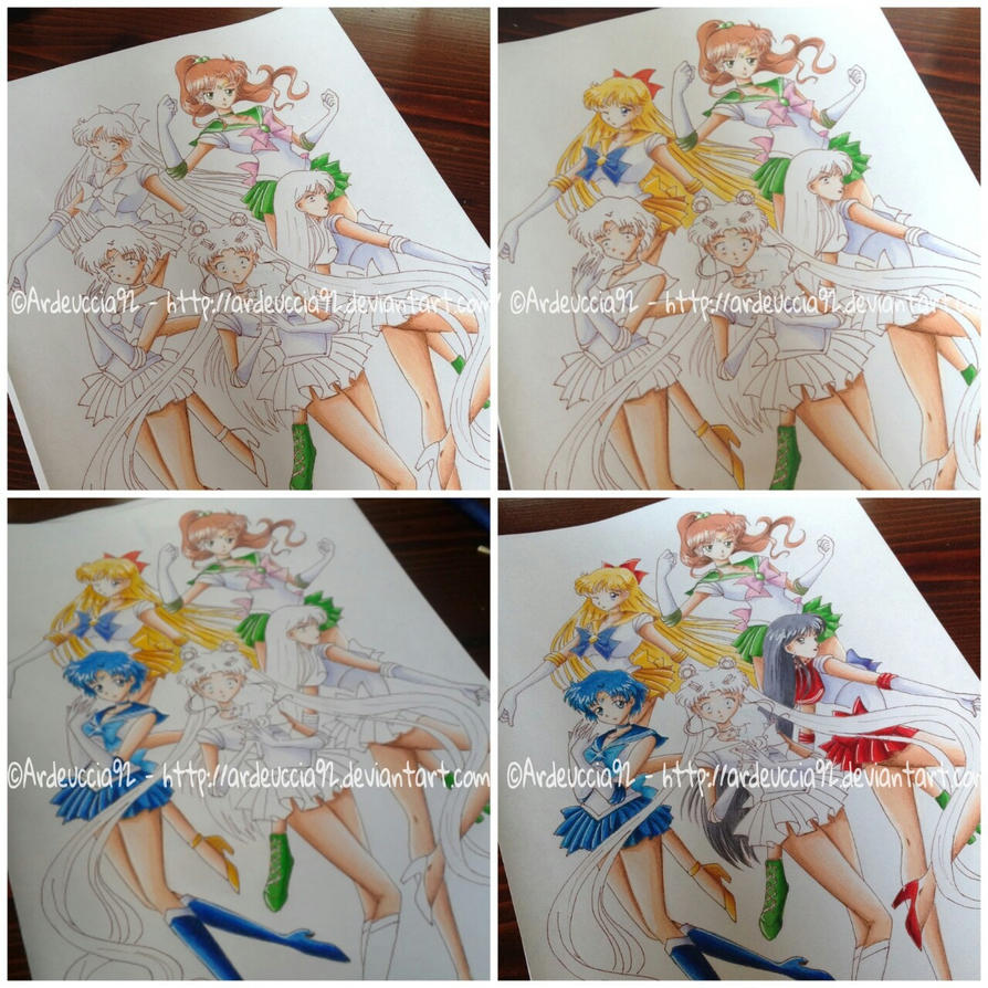 COLORING 2: Sailor Guardians - Sailor Moon Crystal by Ardeuccia92