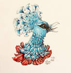 A Victoria crowned pigeon in my style