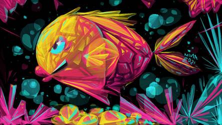 Flashy and angular fish