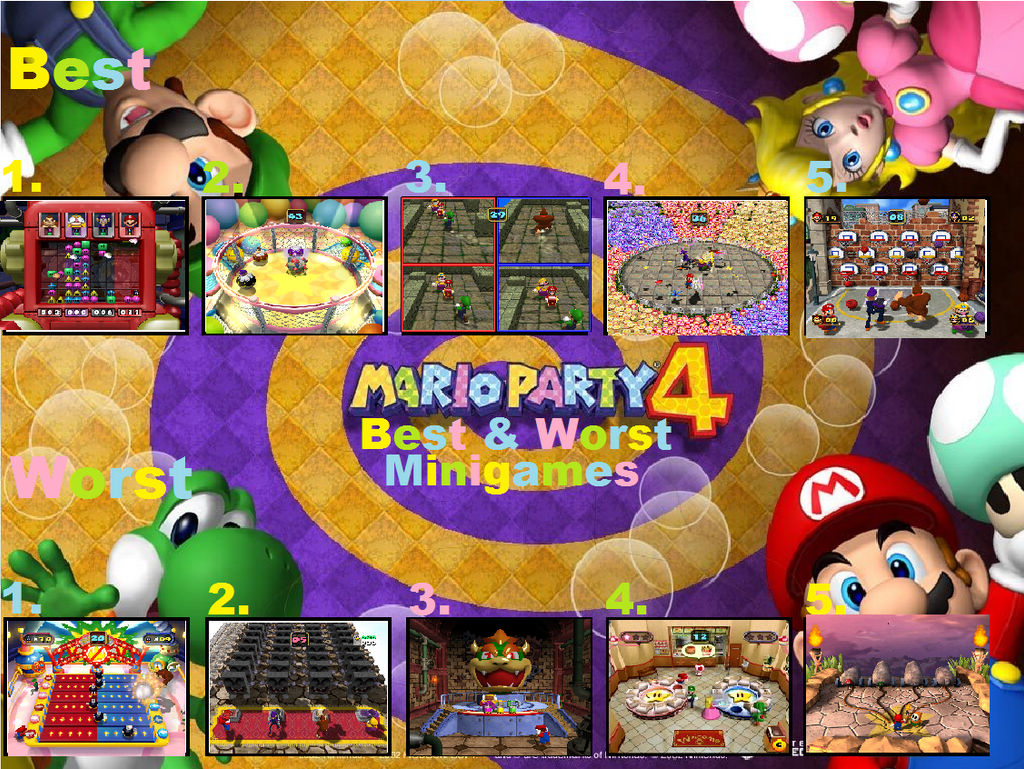 My Mario Party 4 Top 5 Best And Worst Minigames by Legoboy186 on